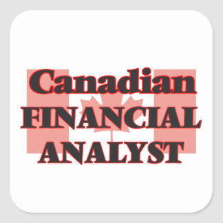 Canadian Financial Analyst Square Sticker