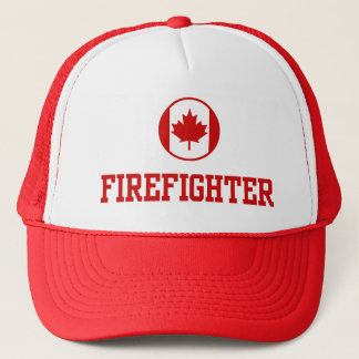 Canadian Firefighter Trucker Hat