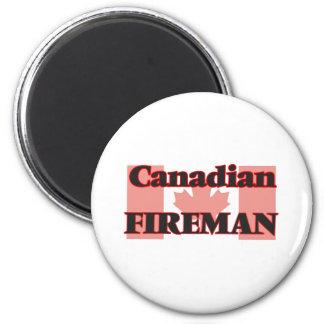 Canadian Fireman 6 Cm Round Magnet