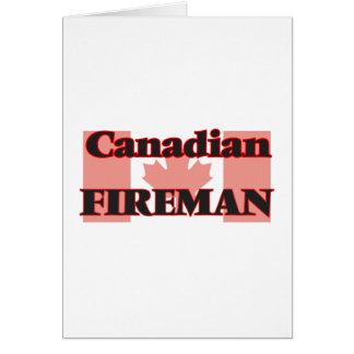 Canadian Fireman Greeting Card