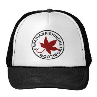 Canadian Fishing Network Black Trucker Hat