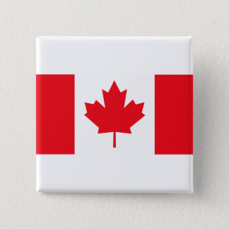 Canadian Flag 15 Cm Square Badge