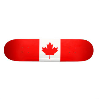 Canadian Flag 21.3 Cm Mini Skateboard Deck