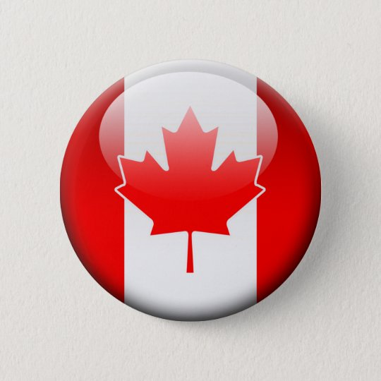 Canadian Flag 2.0 6 Cm Round Badge