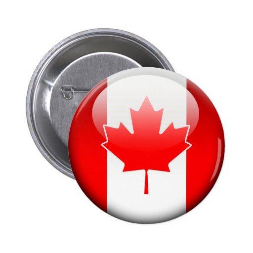 Canadian Flag 2.0 6 Cm Round Badge