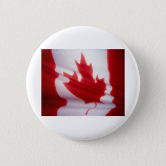 CANADIAN FLAG 6 CM ROUND BADGE