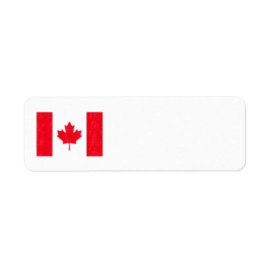 CANADIAN FLAG Address Labels