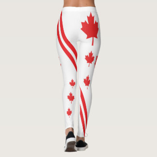 CANADIAN FLAG AND LEAF LEGGINGS HAVIC ACD