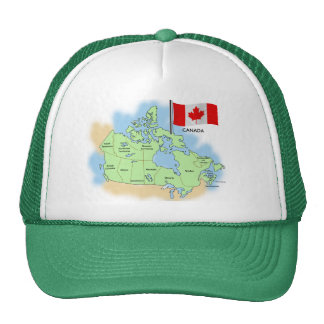 Canadian Flag and Map Cap