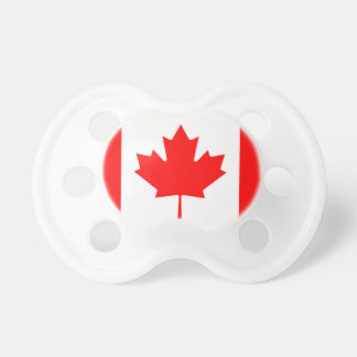 Canadian flag baby pacifier | Fun baby shower gift