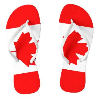 Canadian flag beach flip flops for men and women