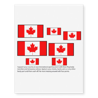 Canadian flag body transfers