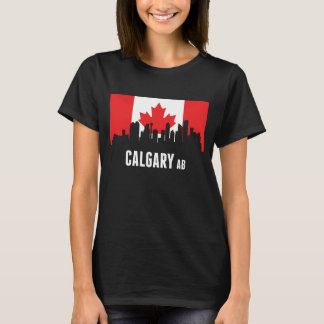 Canadian Flag Calgary Skyline T-Shirt