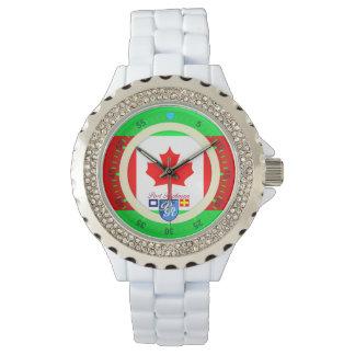 Canadian Flag Canada Port Richman Nautical Wrist Watches