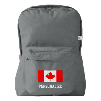 Canadian flag Canada pride custom backpack bag