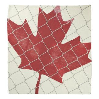 Canadian Flag. Chain Link Fence. Rustic. Cool. Bandana