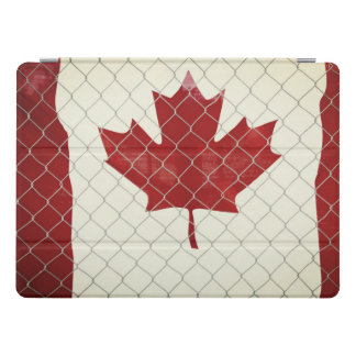 Canadian Flag. Chain Link Fence. Rustic. Cool. iPad Pro Cover