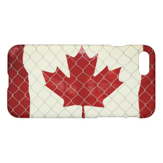 Canadian Flag. Chain Link Fence. Rustic. Cool. iPhone 8/7 Case