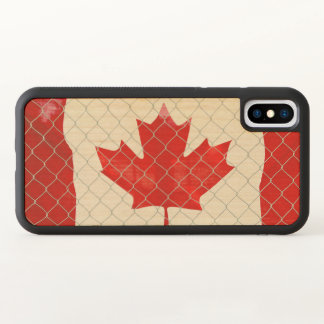 Canadian Flag. Chain Link Fence. Rustic. Cool. iPhone X Case