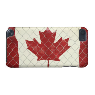 Canadian Flag. Chain Link Fence. Rustic. Cool. iPod Touch 5G Covers