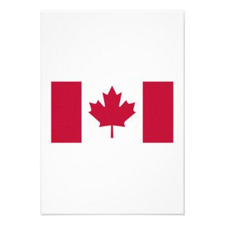 Canadian Flag Custom Announcements