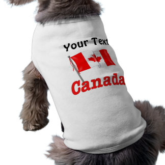 Canadian Flag - Customize Sleeveless Dog Shirt