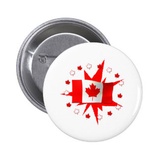 Canadian Flag Design Button