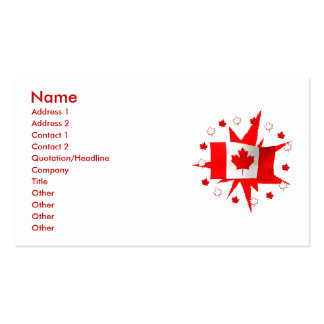 Canadian Flag Design - Business Size Business Card