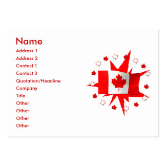 Canadian Flag Design - Chubby Size Business Cards