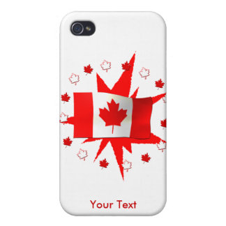 Canadian Flag Design iPhone 4/4S Covers