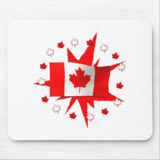 Canadian Flag Design Mouse Mat
