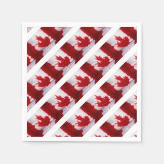 CANADIAN FLAG DISPOSABLE SERVIETTE