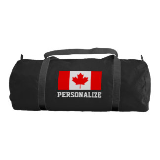 Canadian flag duffle gym bag | Personalize Canada