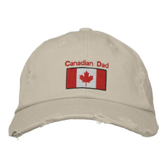 Canadian flag embroidered hat