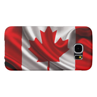 Canadian Flag Fabric Samsung Galaxy S6 Cases