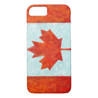 Canadian flag fire and ice iPhone 7 case