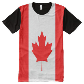 Canadian Flag full All-Over Print T-Shirt