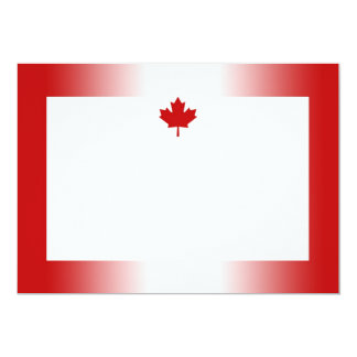 Canadian Flag Gradient 1 Invitation