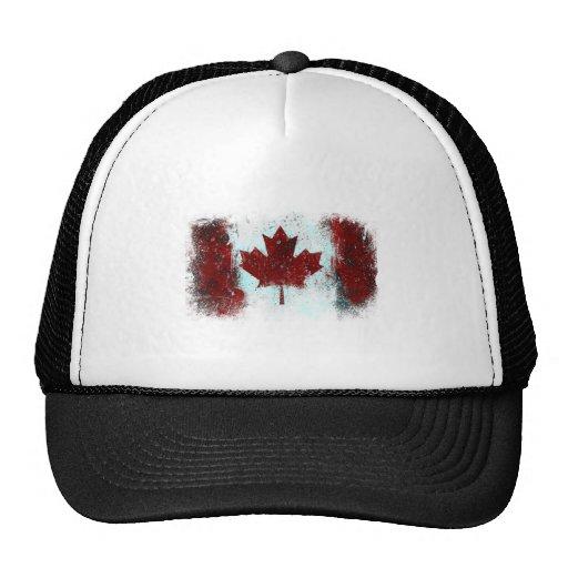 Canadian Flag Graffiti Hat