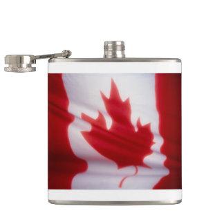 CANADIAN FLAG HIP FLASK