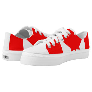 Canadian Flag image for Zipz-Low-Top-Shoes Printed Shoes