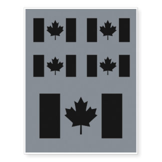 Canadian Flag in Black