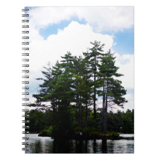 Canadian flag, island, cottage country notebook