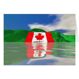 Canadian Flag Land Card