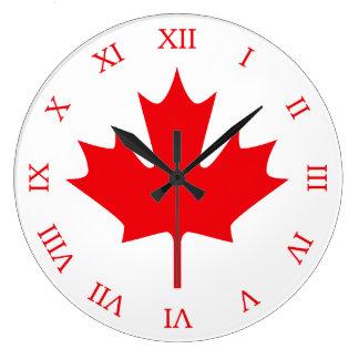 Canadian Flag Large Clock