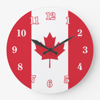 Canadian Flag Large Clock