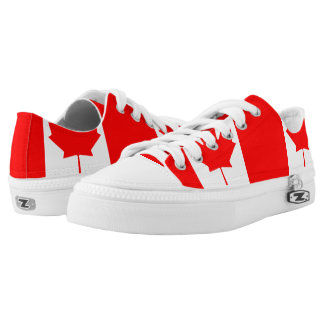 Canadian flag Low Top Shoes Printed Shoes