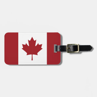 Canadian flag luggage tag