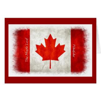 Canadian Flag Maple Leaf l'Unifolié Greeting Card
