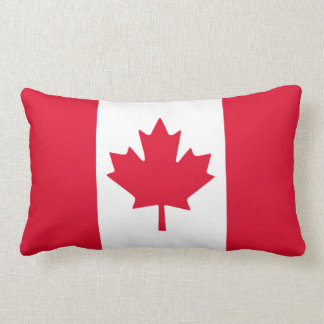 Canadian Flag Maple Leaf Red White Canada Throw Cushions